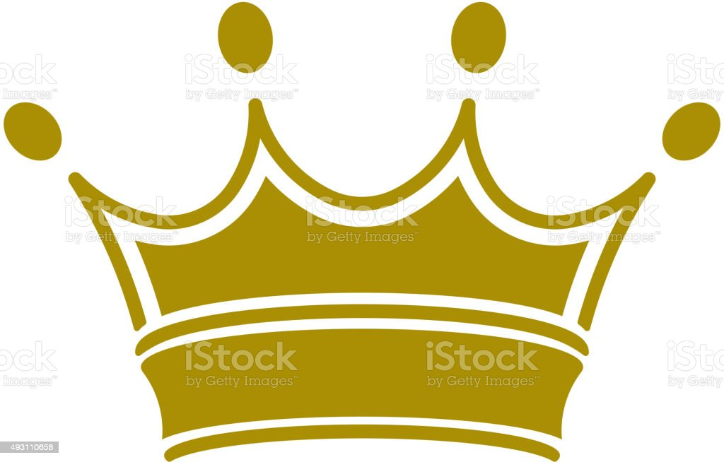 royal crown - vector vector art illustration