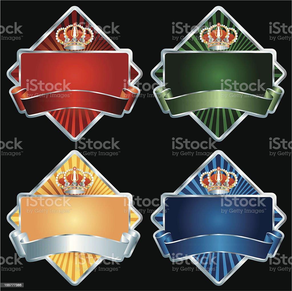 royal diamond silver royalty-free stock vector art