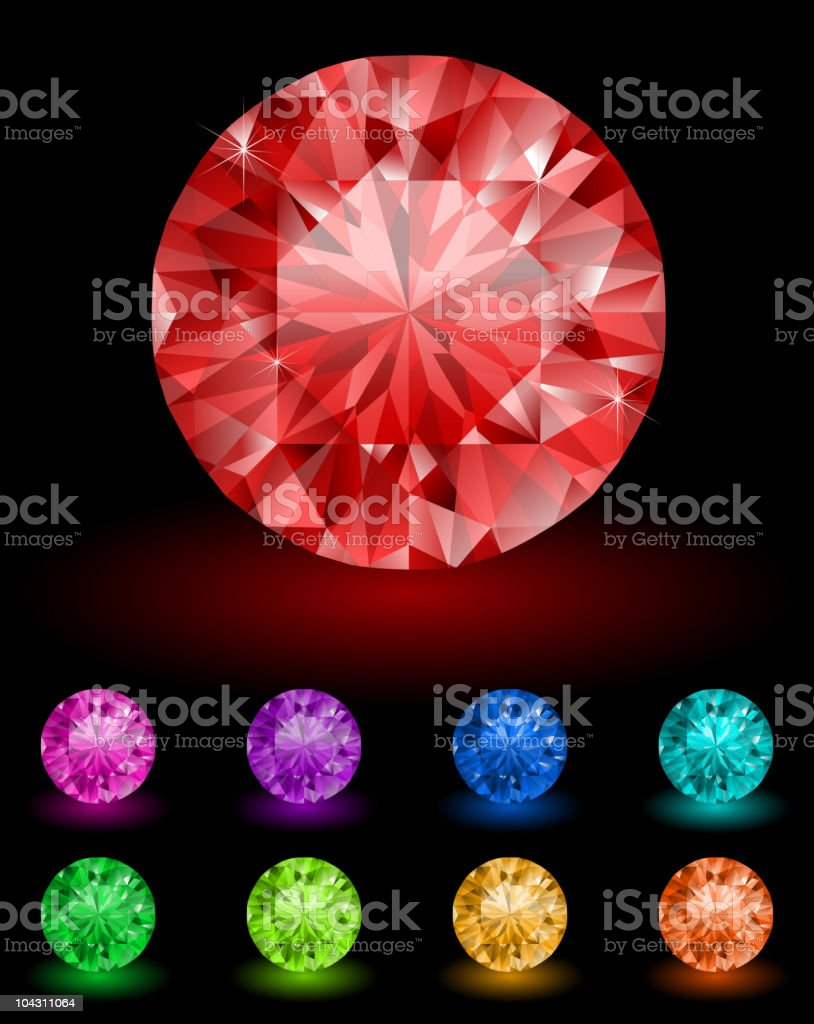 Royal diamonds royalty-free stock vector art