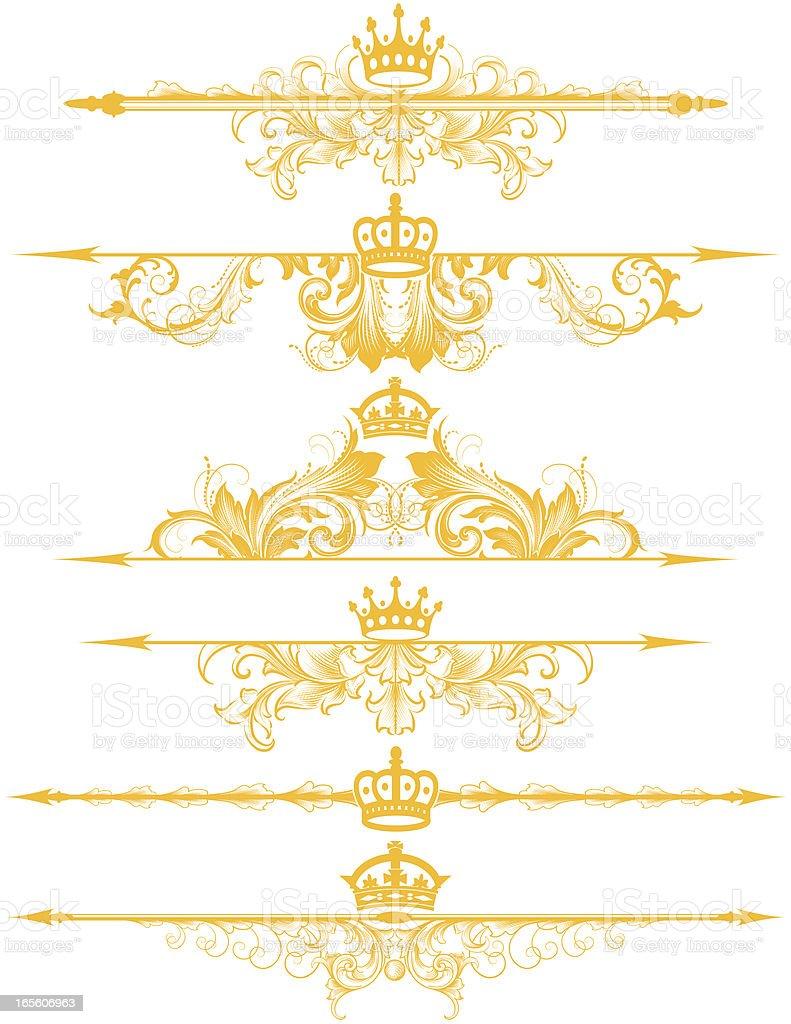 Royal Dividing Rules vector art illustration