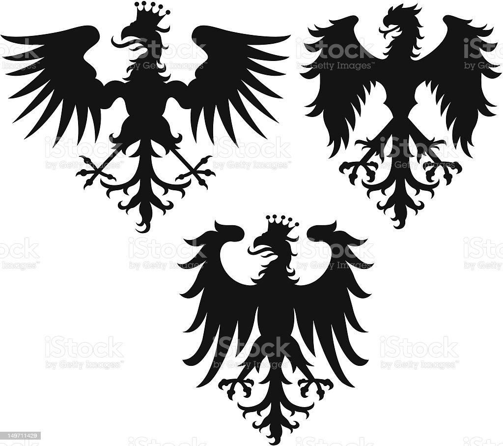 Aquila reale design illustrazione royalty-free