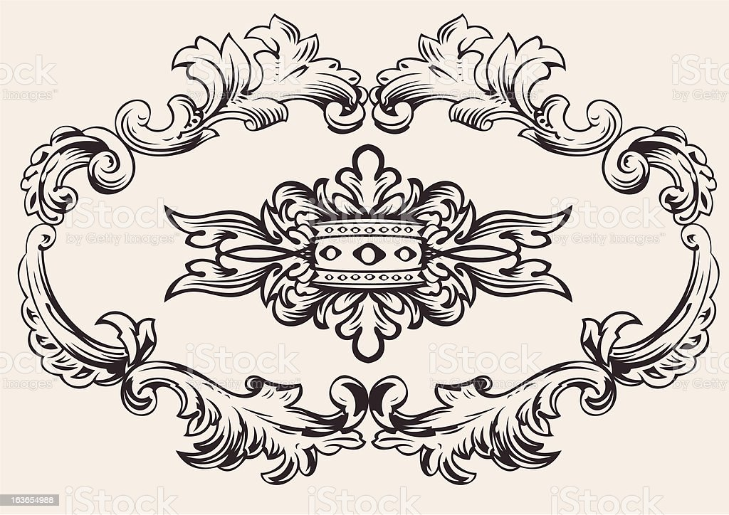 Royal Frame Decoration Vector royalty-free stock vector art