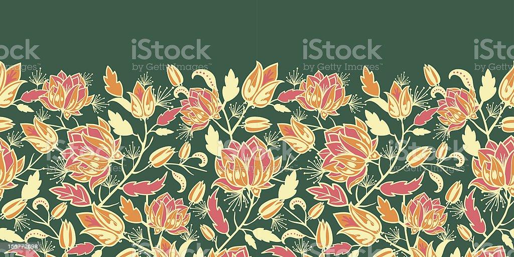 Royal Garden Horizontal Seamless Pattern Ornament royalty-free stock vector art
