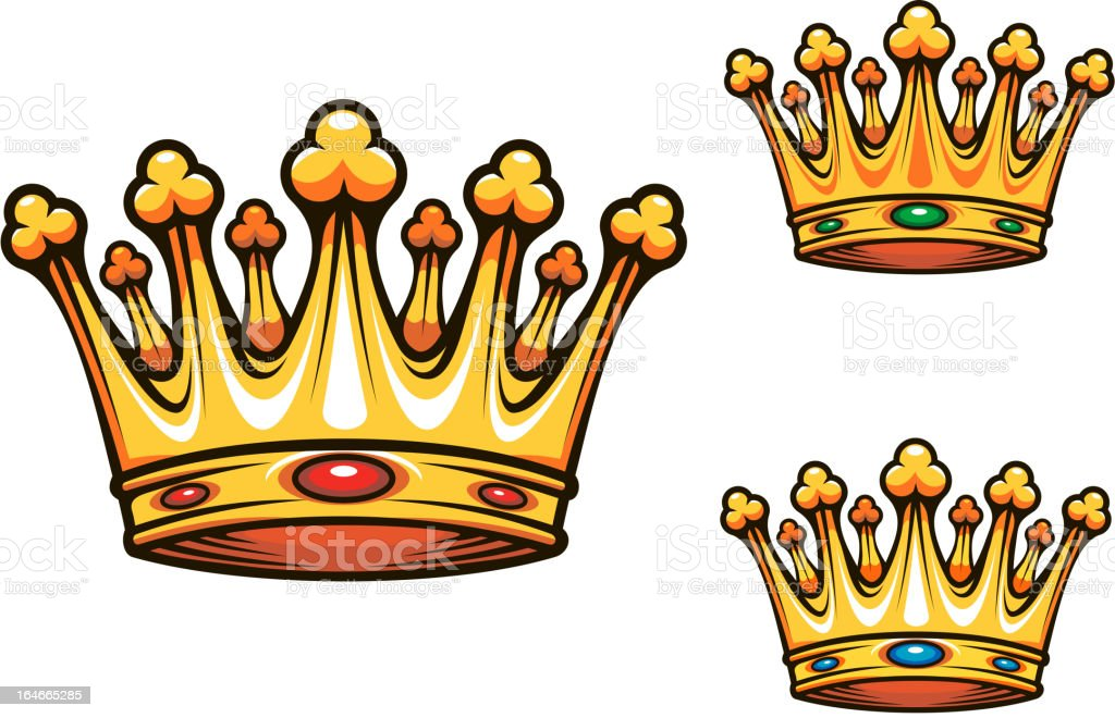 Royal king crown royalty-free stock vector art