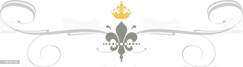 royal ornament vector art illustration