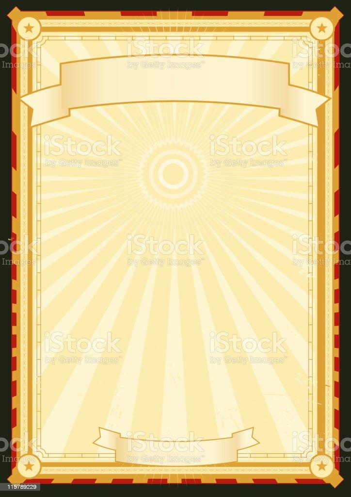 Royal Palace Menu Poster royalty-free stock vector art