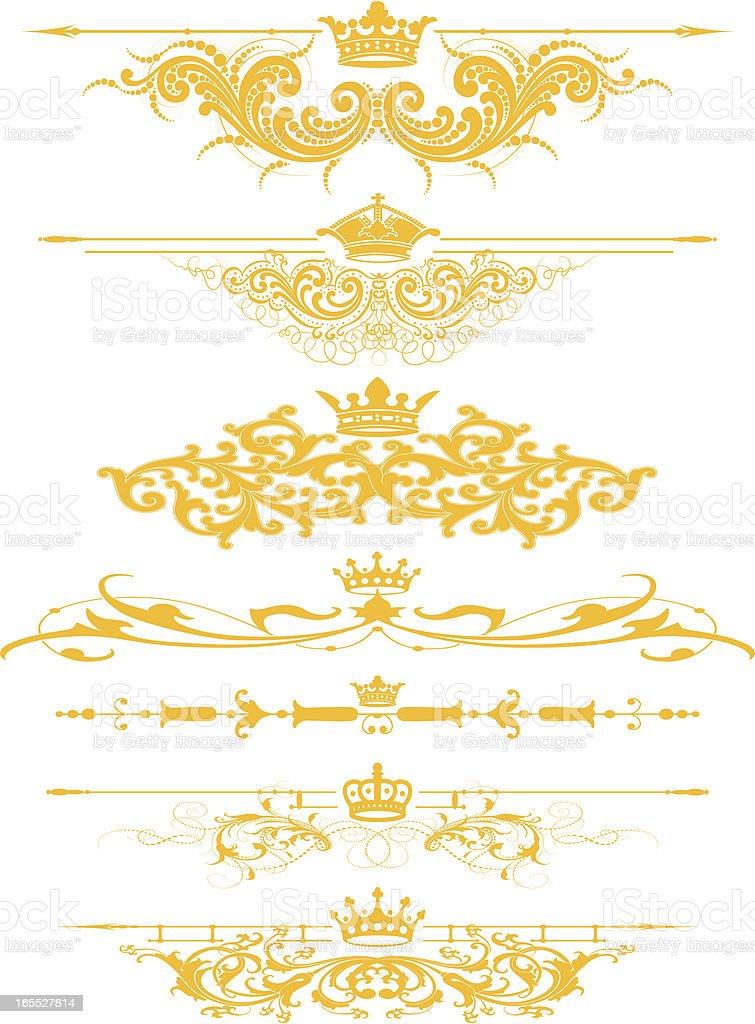 Royal Rule Lines royalty-free stock vector art