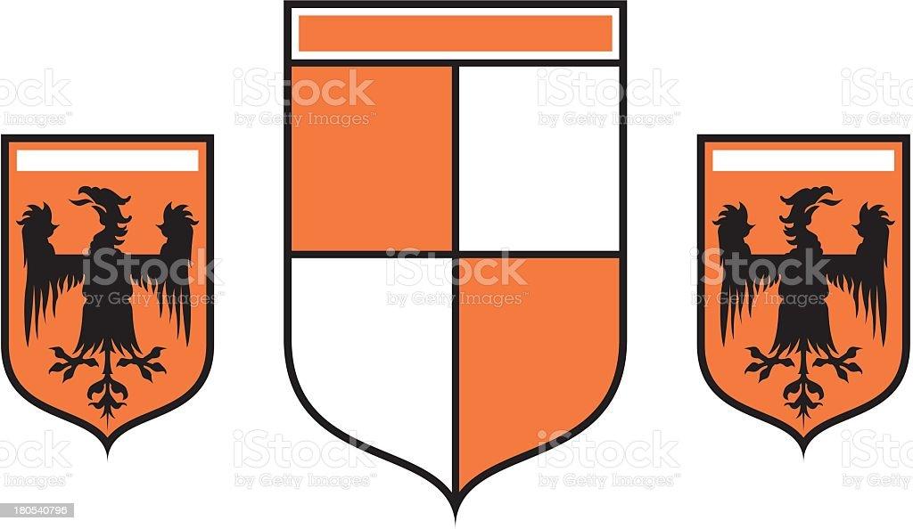 Royal Shields royalty-free stock vector art