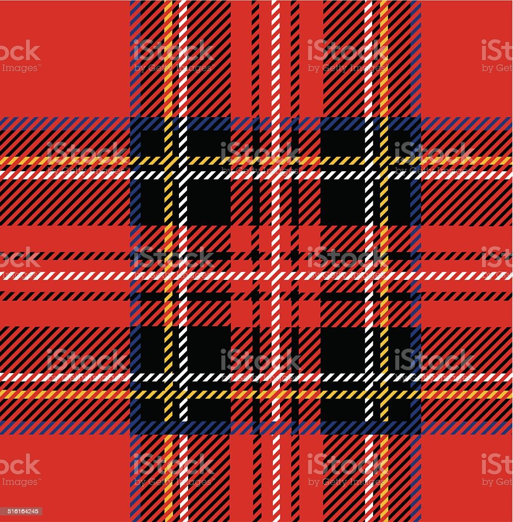Royal Stewart Tartan vector art illustration