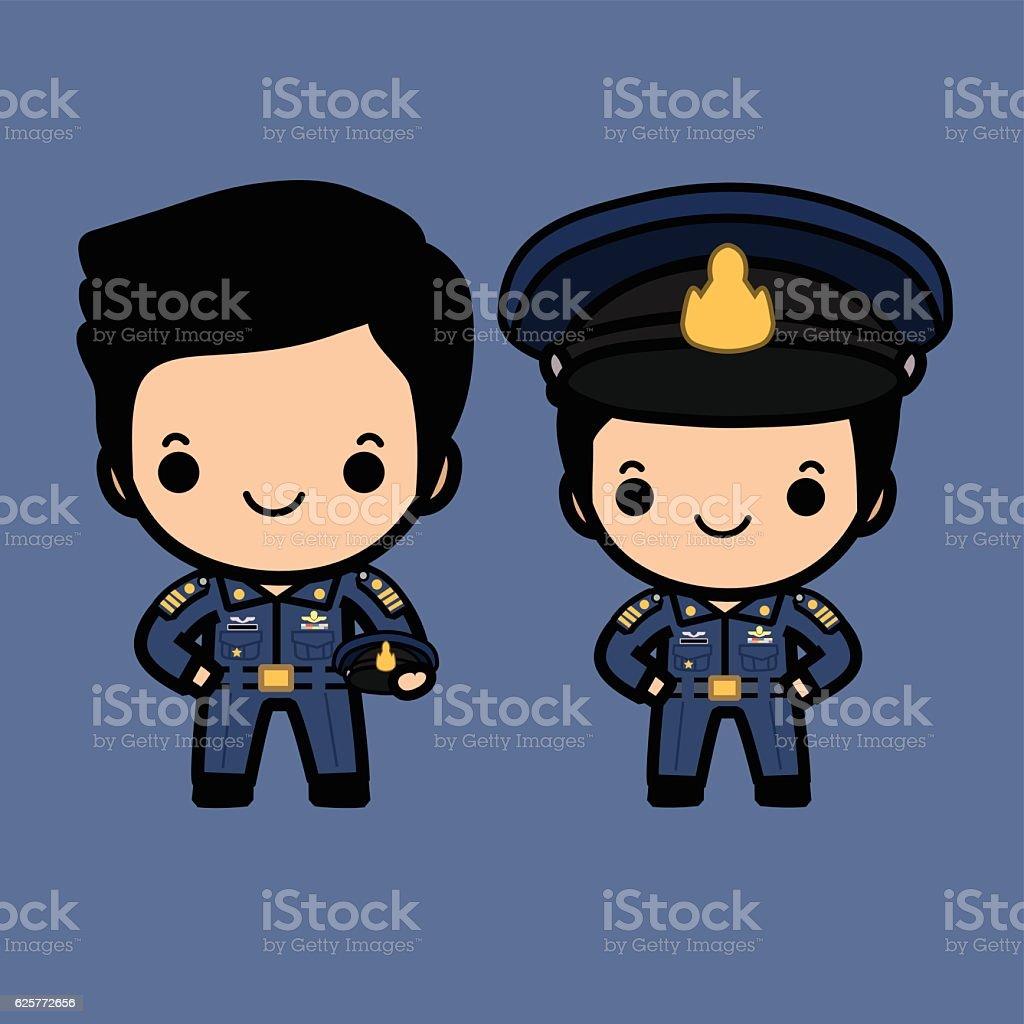 Royal Thai airforce uniform vector art illustration