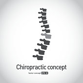 Royalty free Chiropractic symbol spine concept icon