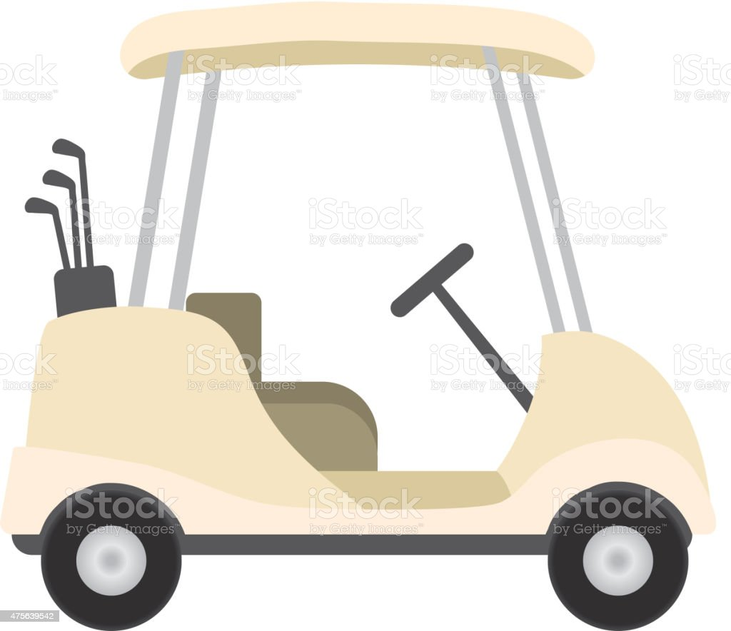 Royalty Free Golf Cart Design Icon On White Background stock ...