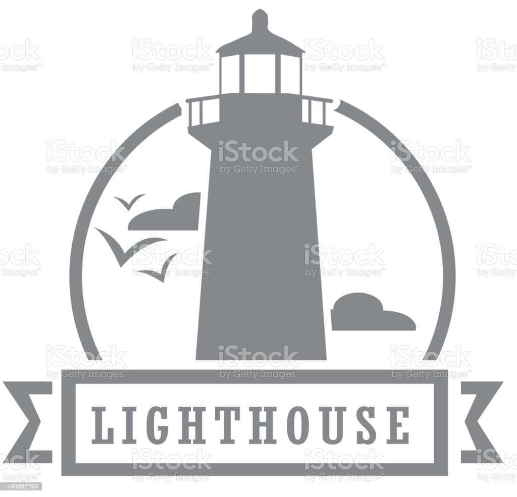 Royalty free lighthouse icon vector art illustration