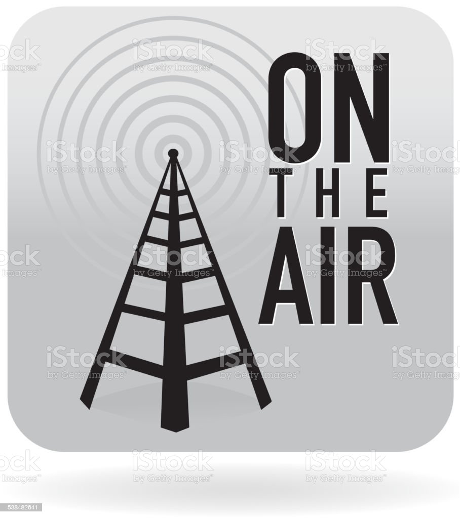 On the air icon vector art illustration