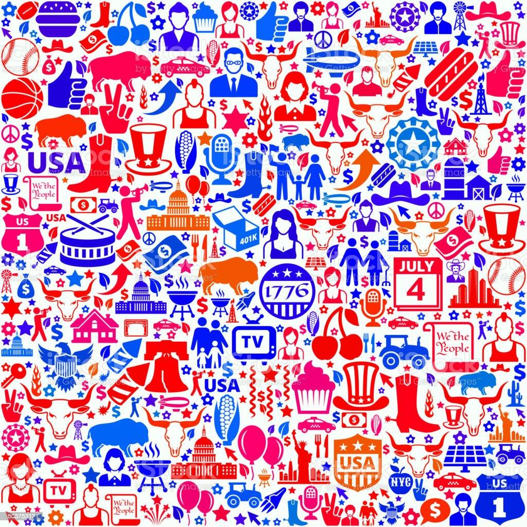 USA royalty free vector art Pattern on Seamless Background vector art illustration