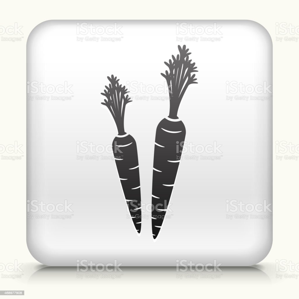 Royalty free vector icon button with Carrot Icon vector art illustration