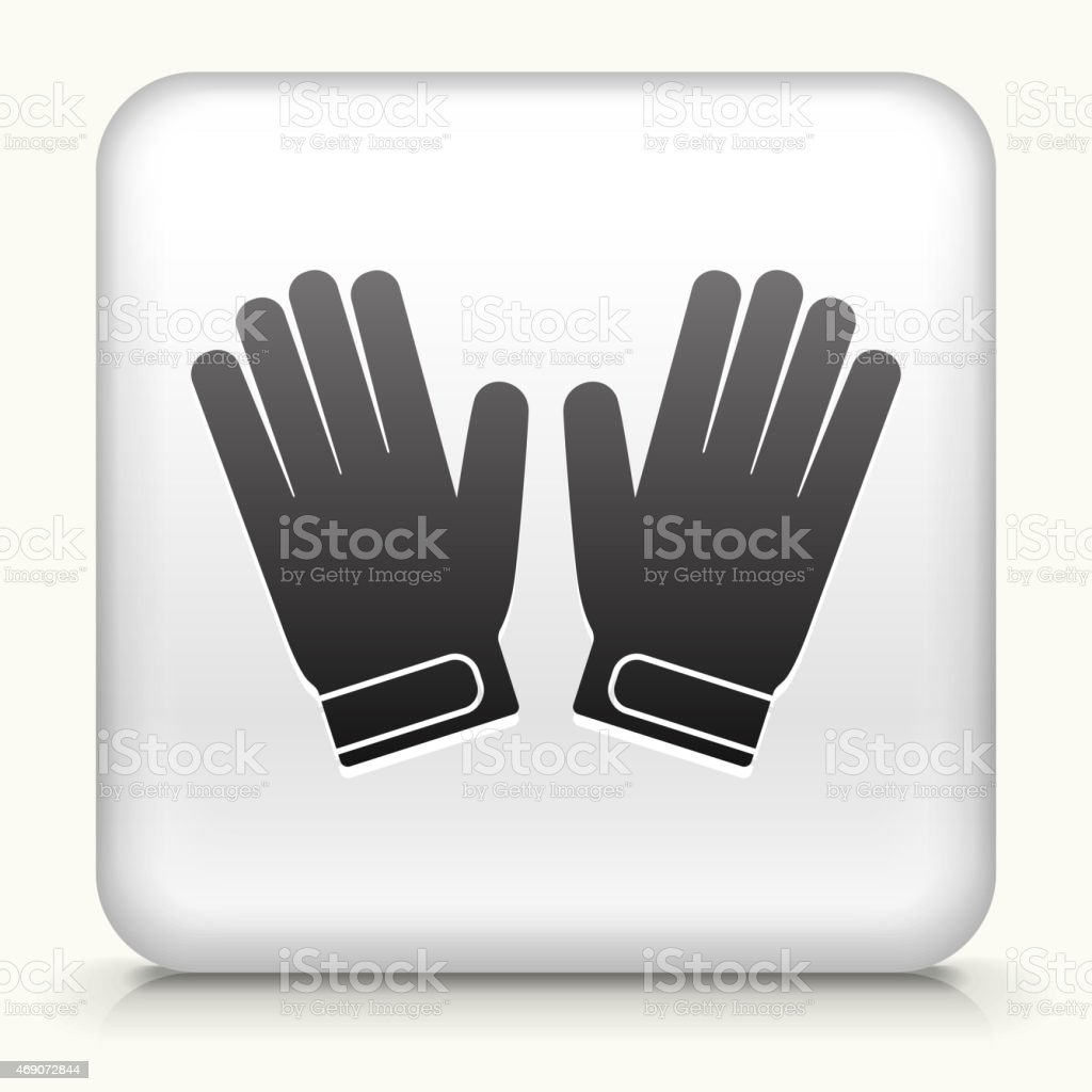 Royalty free vector icon button with Goalie Gloves Icon vector art illustration