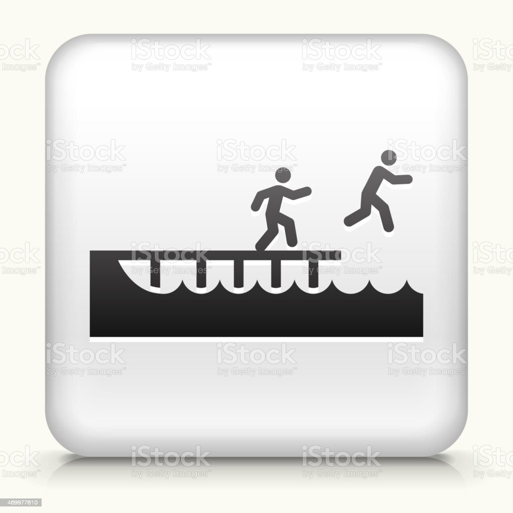 Royalty free vector icon button with Jumping to Swim vector art illustration