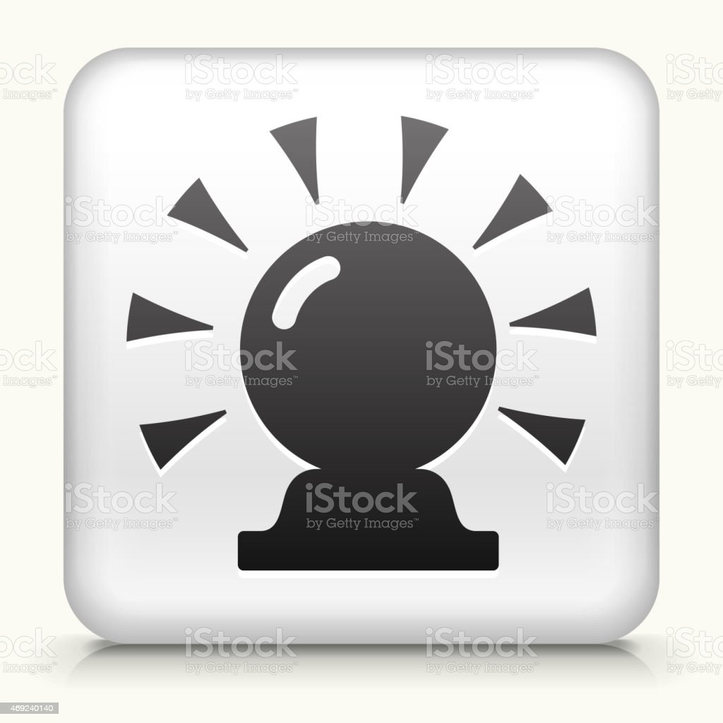 Royalty free vector icon button with Magic Crystal Ball vector art illustration