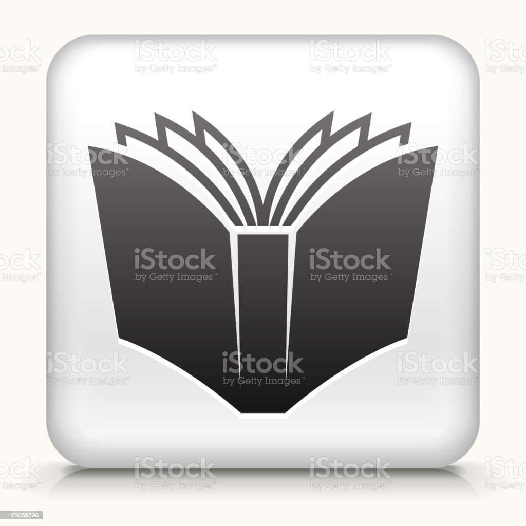 Royalty free vector icon button with Open Book vector art illustration