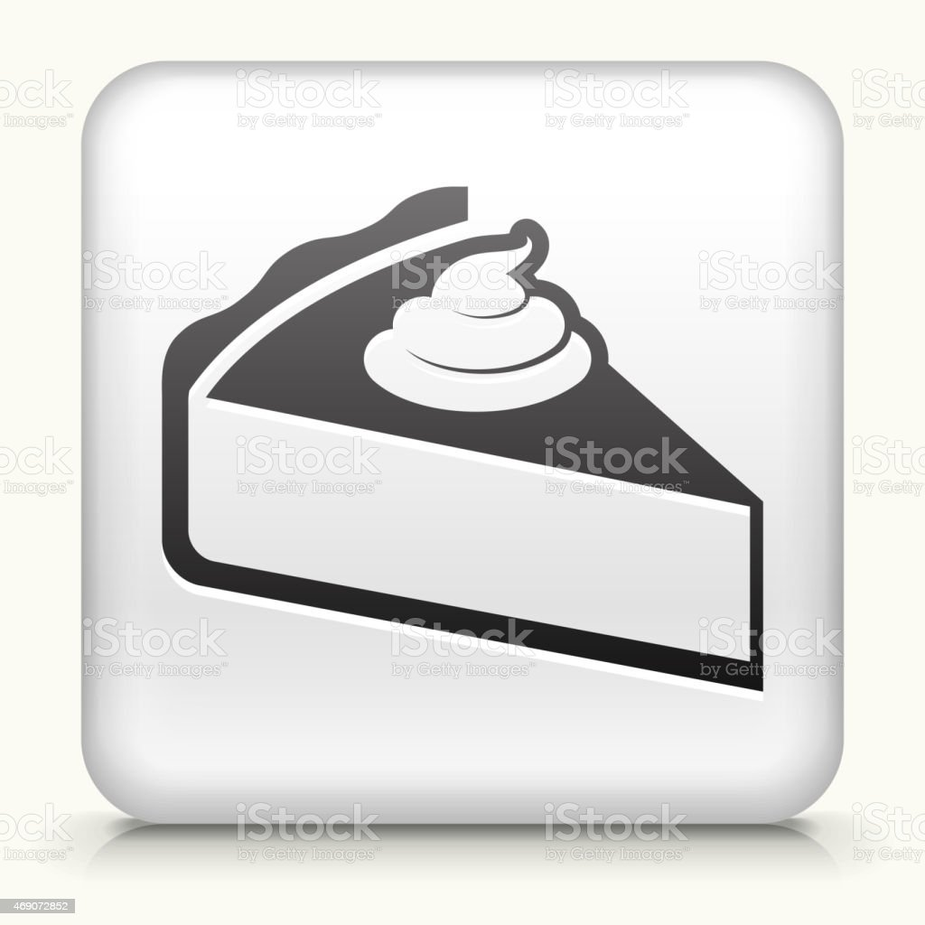 Royalty free vector icon button with Pie Icon vector art illustration