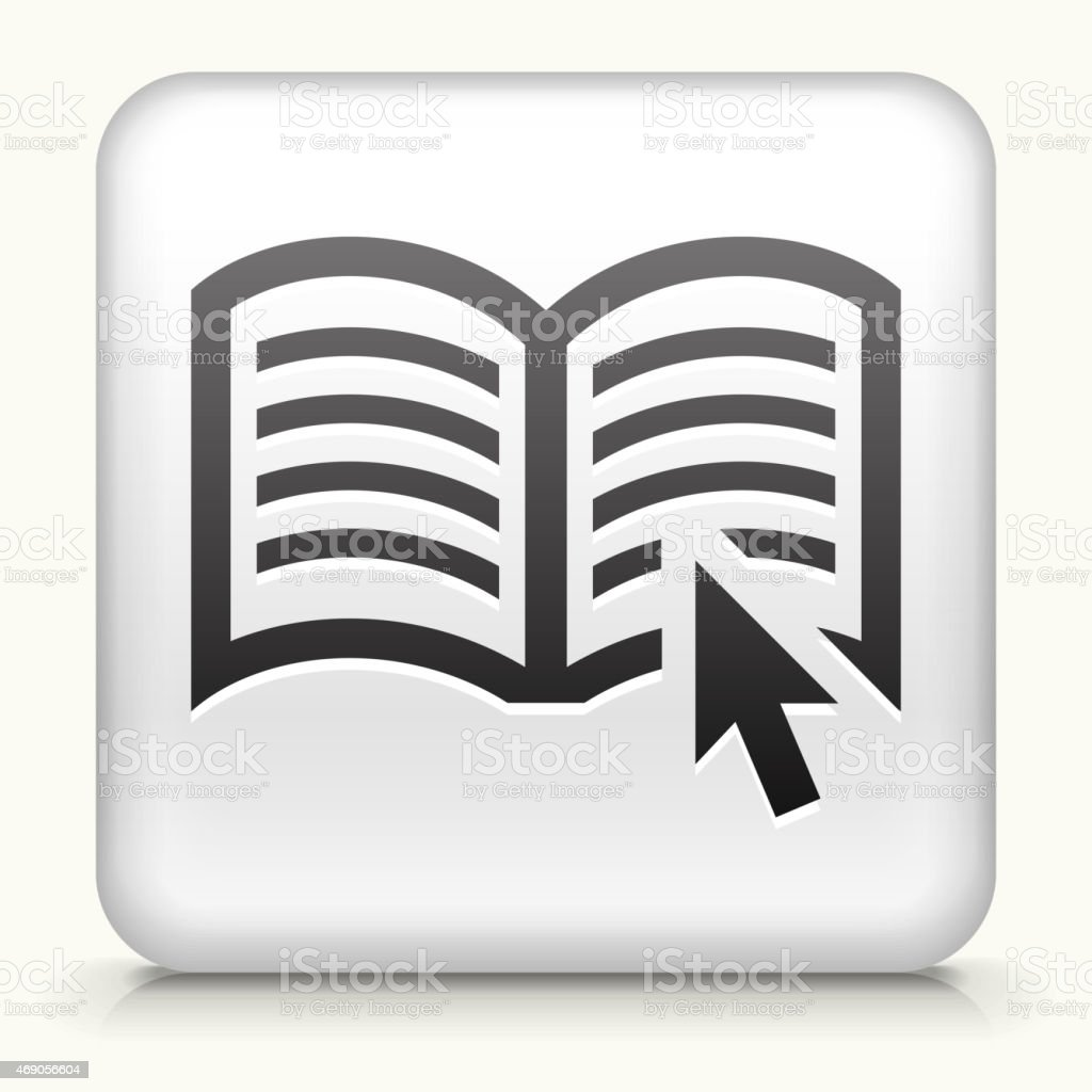 Royalty free vector icon button with Reading Online vector art illustration