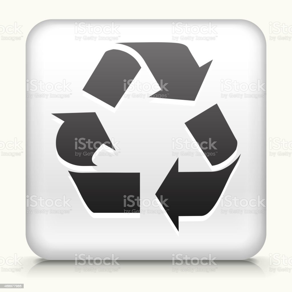 Royalty free vector icon button with Recycling Symbol vector art illustration