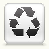 Royalty free vector icon button with Recycling Symbol