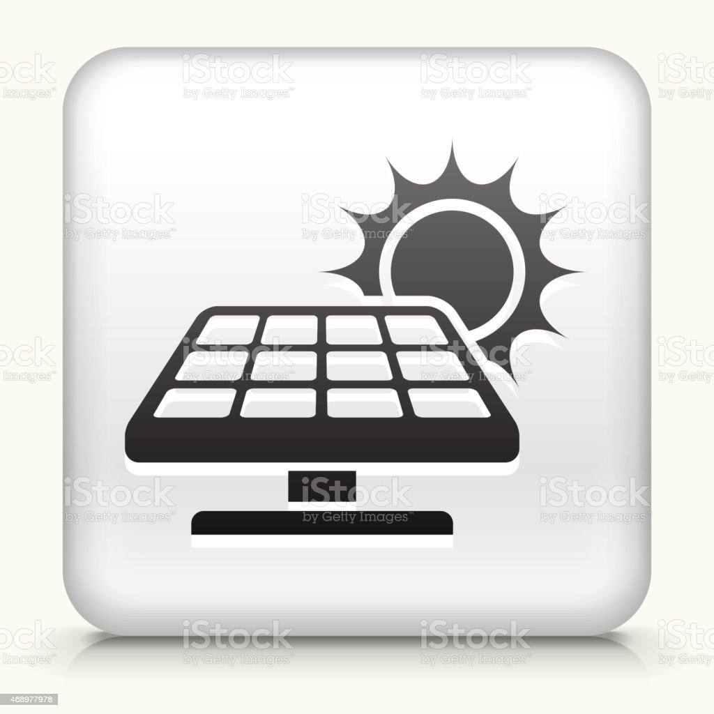 Royalty free vector icon button with Solar Panel vector art illustration