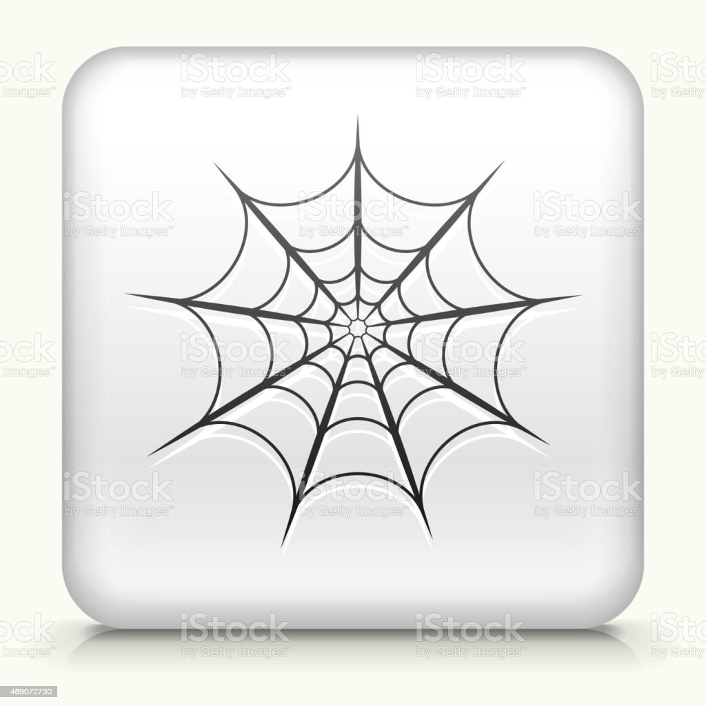 Royalty free vector icon button with Spiderweb vector art illustration