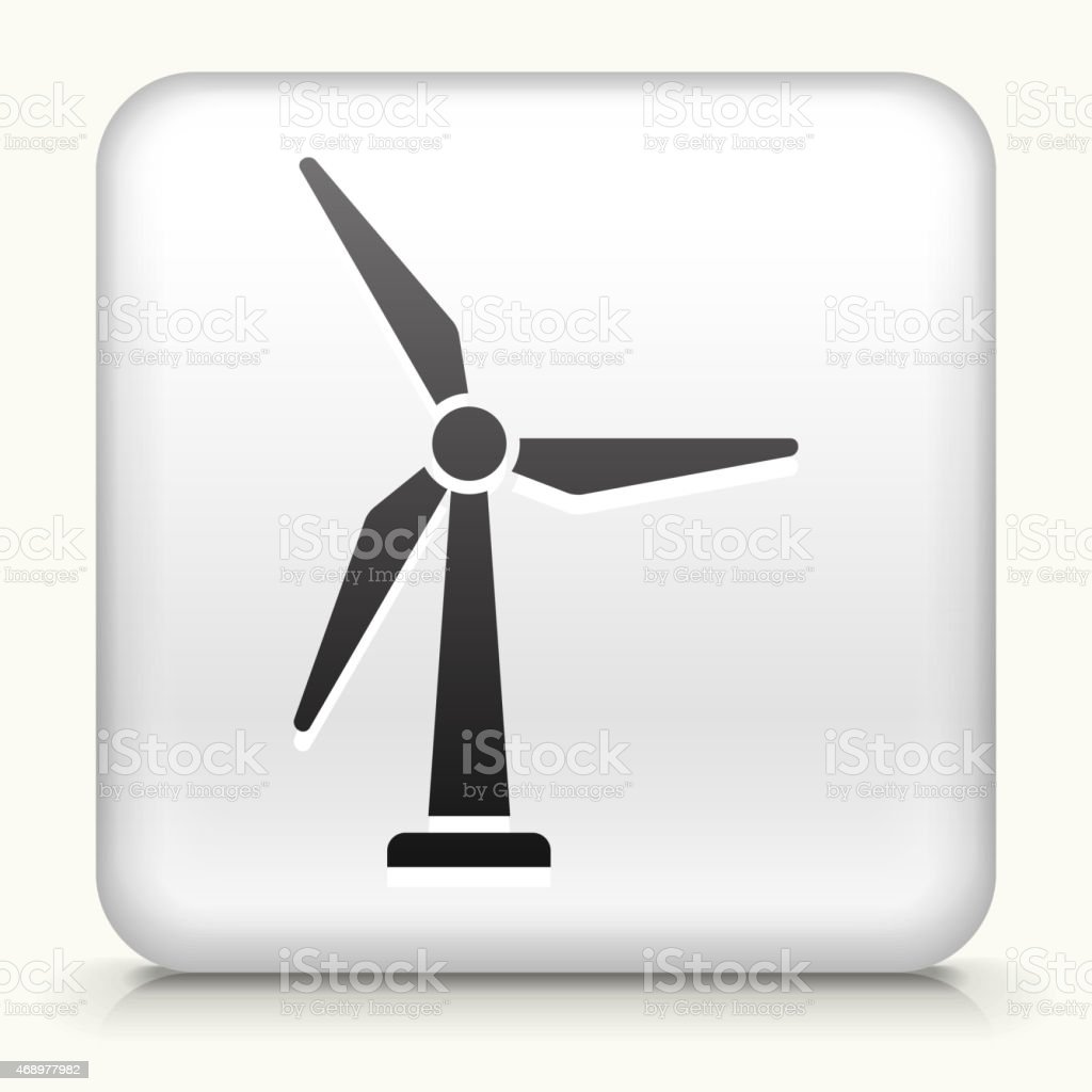 Royalty free vector icon button with Windmill vector art illustration
