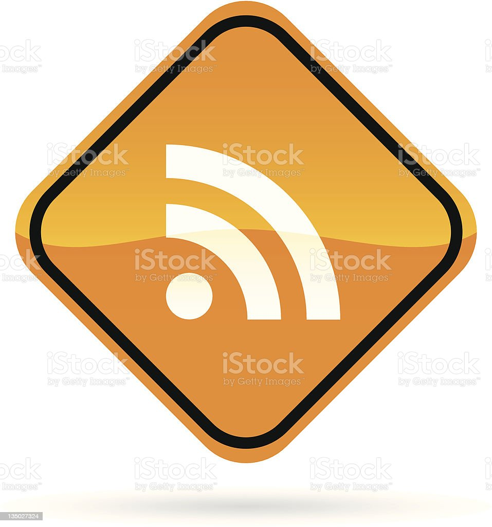 Rss Feed Roadsign royalty-free stock vector art