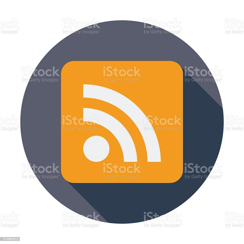 Rss flat icon. vector art illustration