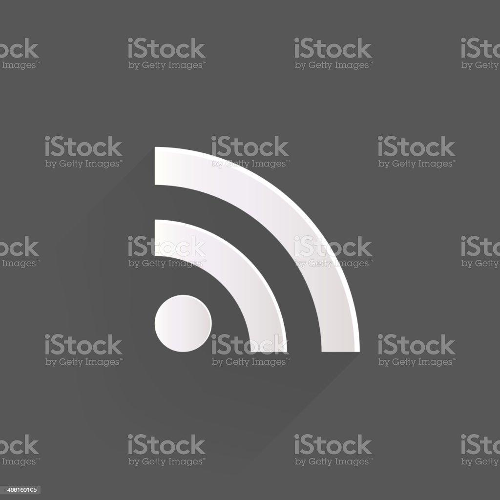 Rss icon, news symbol vector art illustration
