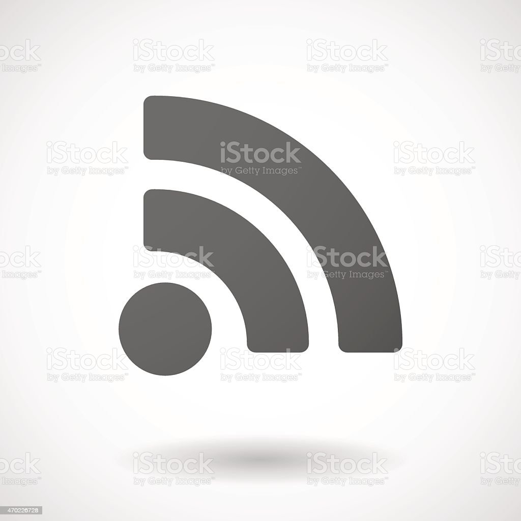 rss  icon on white background vector art illustration