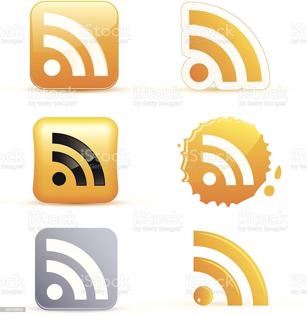 rss icons vector art illustration