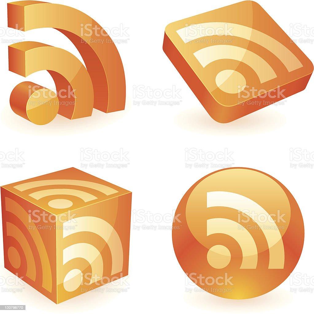 Rss symbol. royalty-free stock vector art