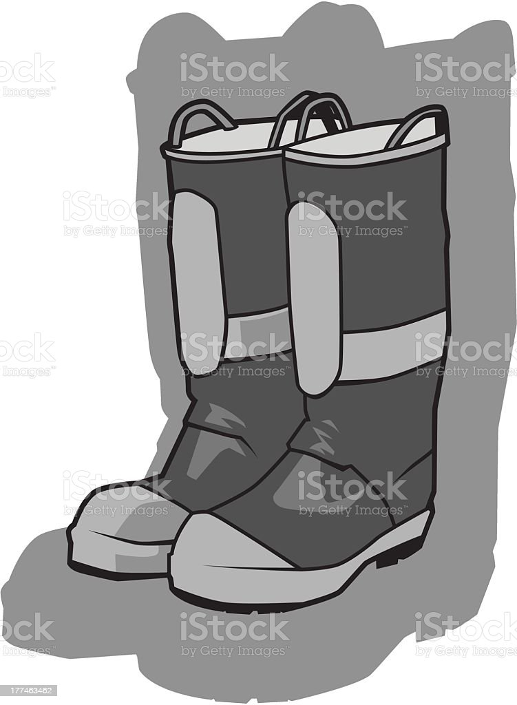 Rubber Boots royalty-free stock vector art