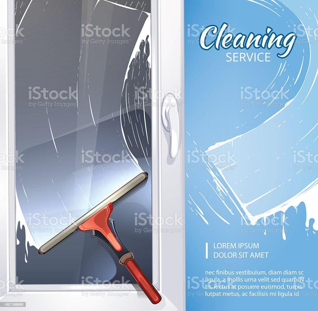 rubber cleaner vector art illustration