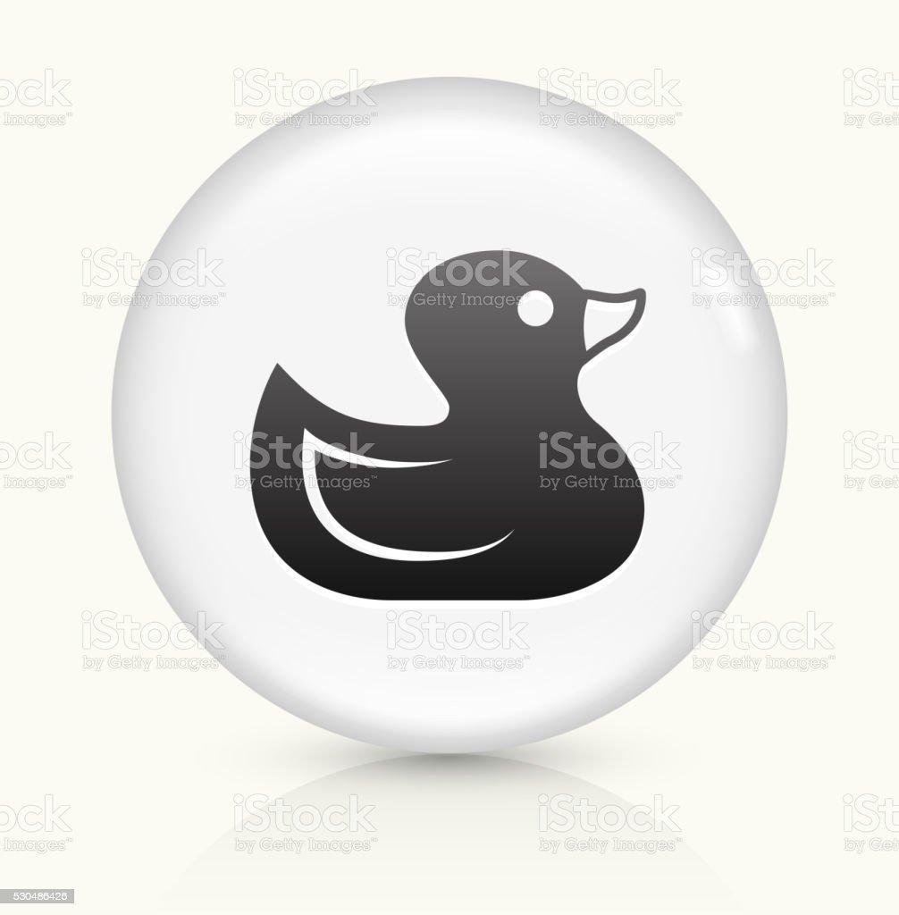Rubber Duck icon on white round vector button vector art illustration