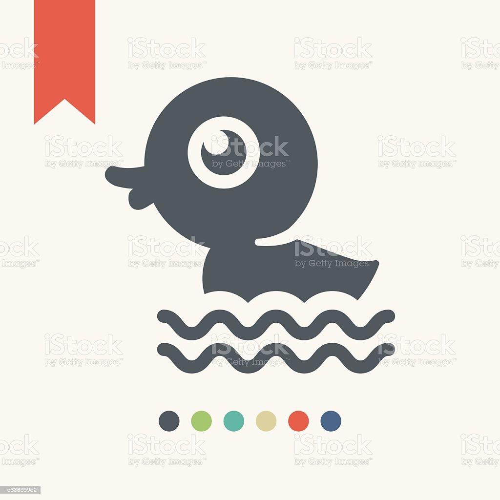 Rubber duck icon vector art illustration