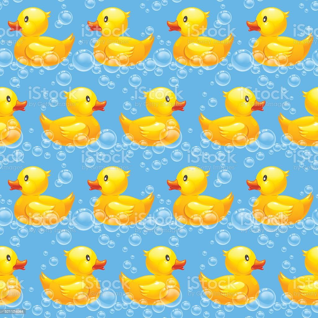 rubber duck seamless pattern 10eps vector art illustration