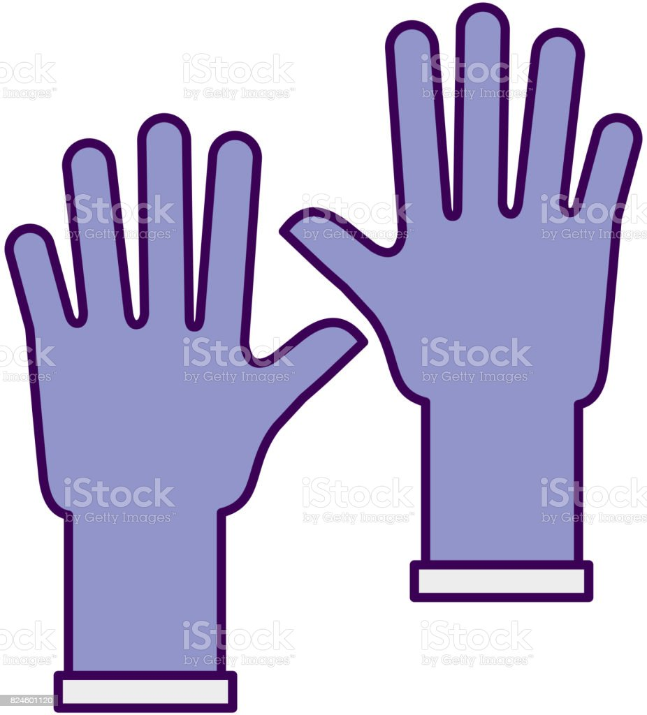 rubber gloves isolated icon vector art illustration