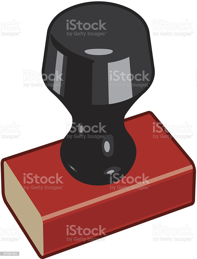 Rubber Stamp 1 royalty-free stock vector art