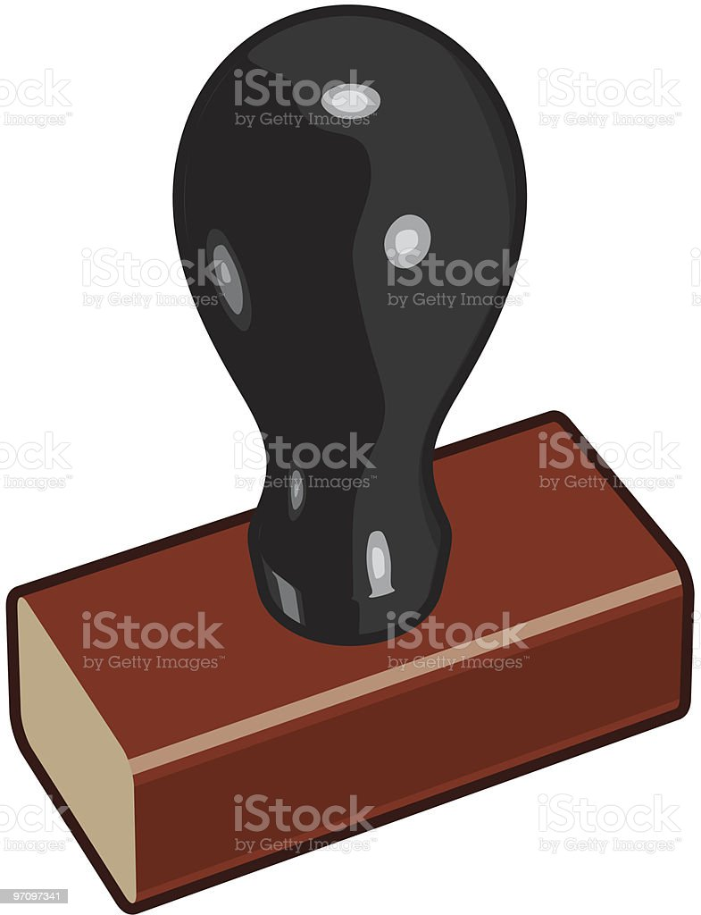 Rubber Stamp 2 royalty-free stock vector art