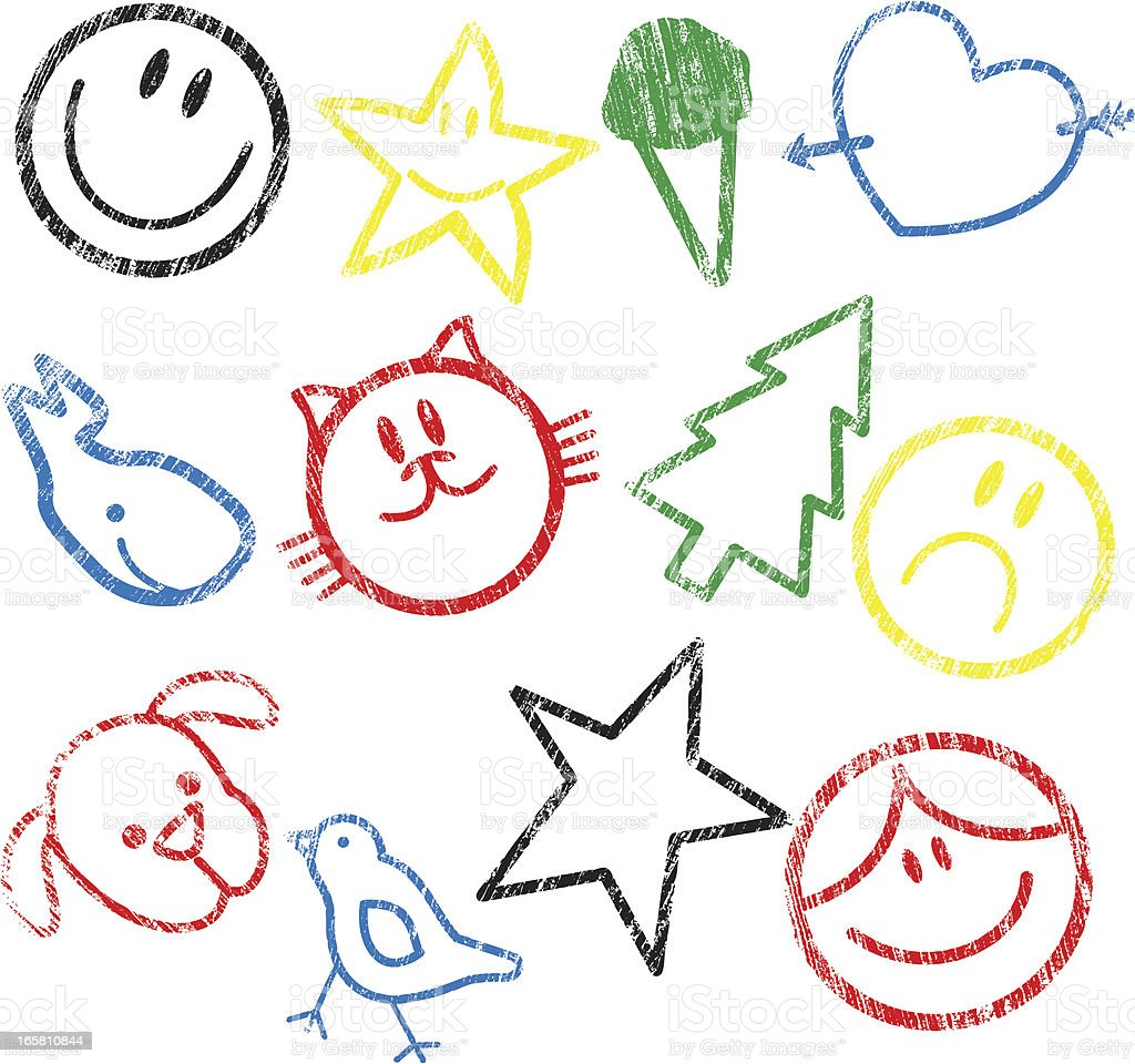 Rubber Stamp for kids royalty-free stock vector art
