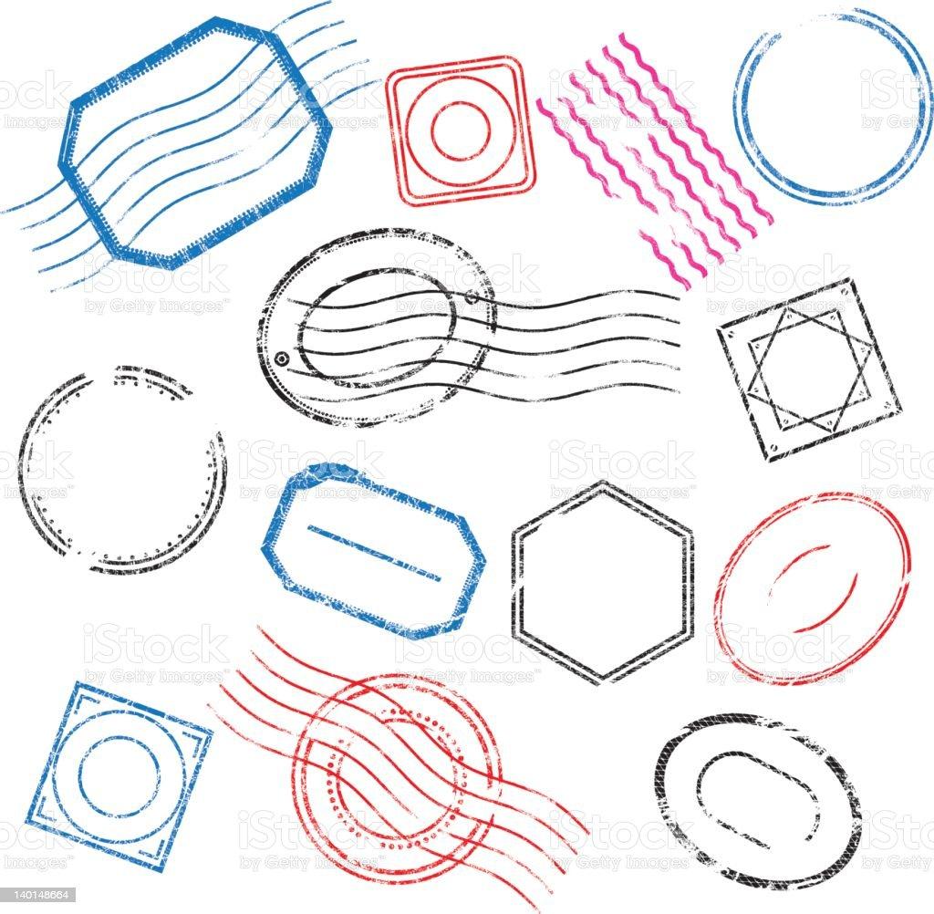 Rubber Stamp vector art illustration