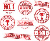 Rubber stamps - champion