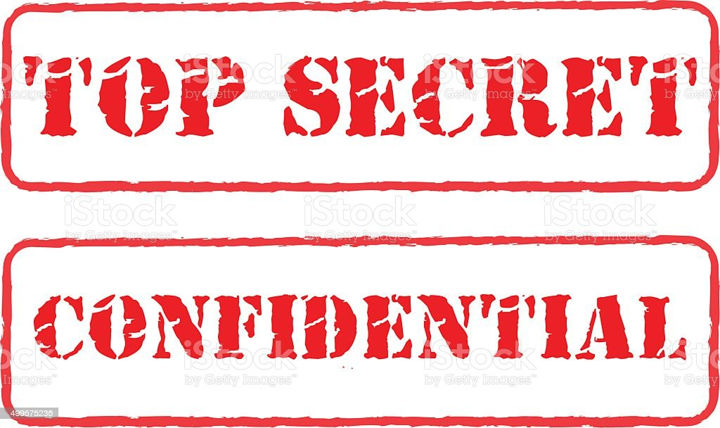 Rubber stamps top secret and confidential vector vector art illustration