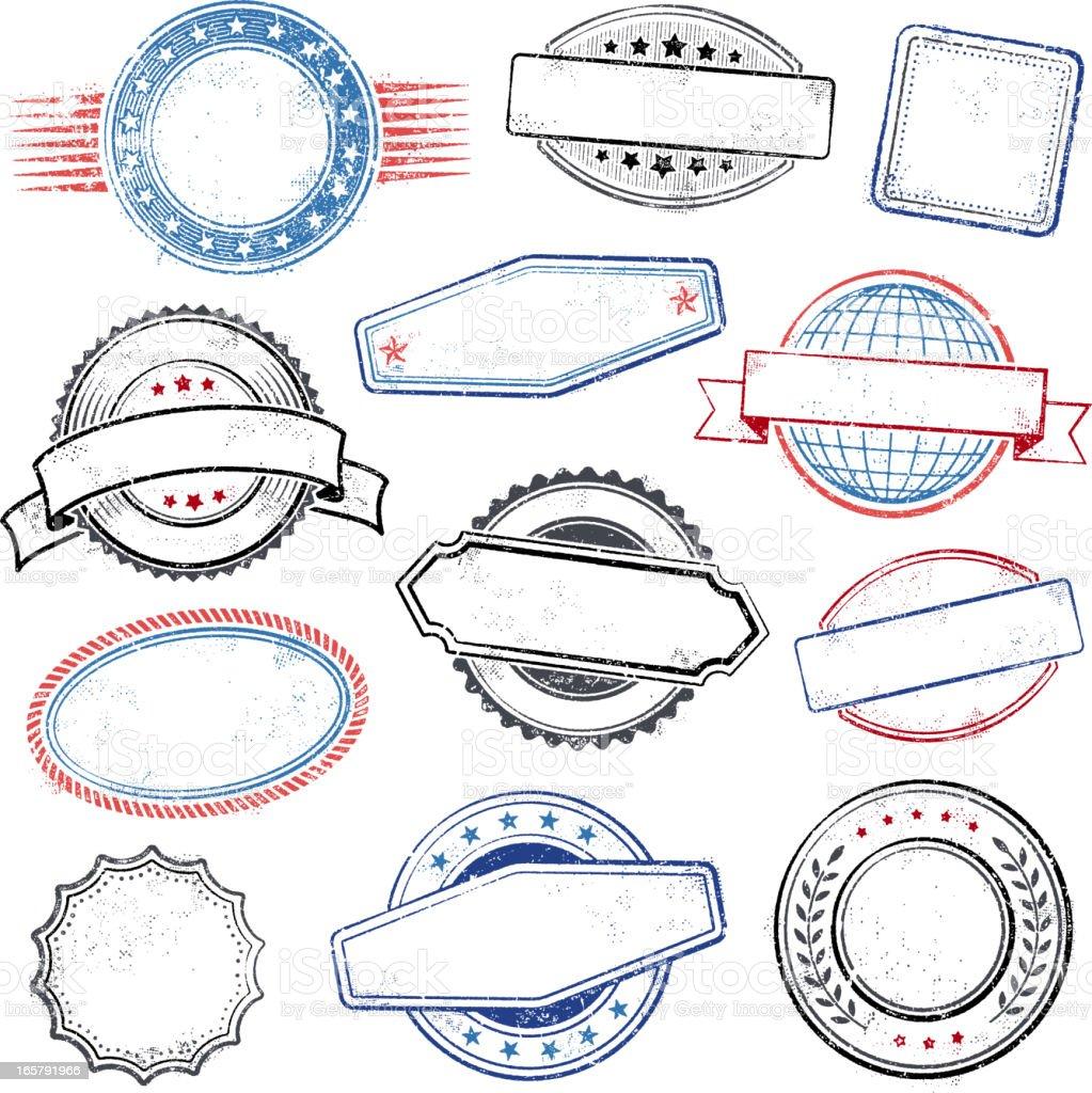 Rubber stamps vector art illustration